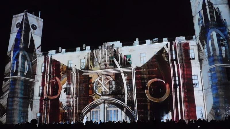 Ночь Света. Иорданский фасад Гатчинского дворца.