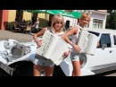 Русские красавицы аккордеонистки Дуэт ЛюбАня Смуглянка КЛИП harmonica баян concertina