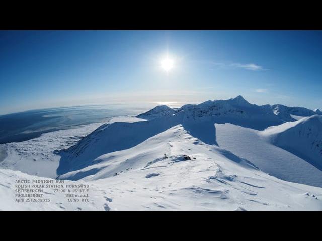 Arctic Midnight Sun - 24hour timelapse (made with Olympus OMD E-M1 Zuiko Digital 8 mm f/3.5 ED FISHEYE)