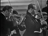 Иегуди Менухин и Давид Ойстрах играют двойной скрипичный концерт Баха