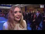 Элизабет Олсен - небольшое интервью на премьере фильма