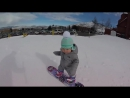 Snowboarding 1-year-old Hits the Slopes Like it's no Big Deal