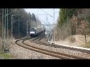 Railjets - Eurocity - Fernzug und Guterzuge auf der Umleiterstrecke Munchen - Rosenheim