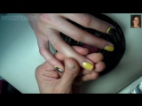 Дизайн ногтей гель-лак Shellac - Обратный френч, французский маникюр
