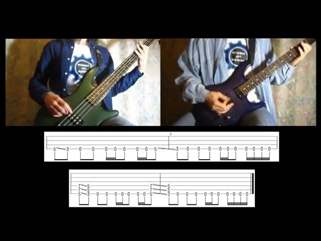 3) Rammstein - Du Hast (Bass Guitar lesson with TAB   Cover HD)