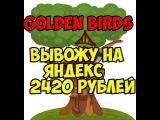 Golden Birds мой вывод на Яндекс деньги 2420 рублей от 23.12.2015