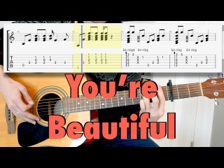 James Blunt - You're Beautiful (fingerstyle acoustic cover, tab)