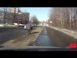 Эпичные подставы пешеходов