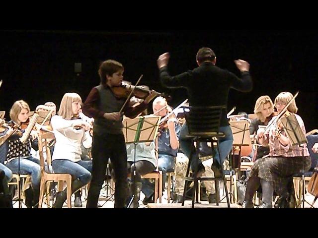 Д Кабалевский Концерт для скрипки с оркестром I часть исп Алексеев Данила