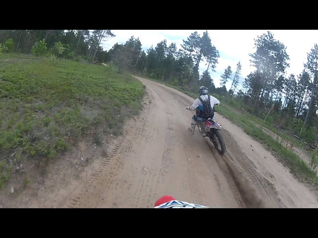 CRF450 GOPRO FAST TRAIL RIDE!!
