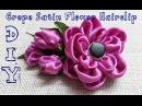 D I Y Crepe Satin Flower Hairclip Tutorial MyInDulzens