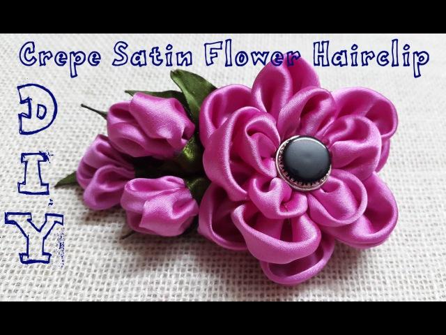 D.I.Y. Crepe Satin Flower Hairclip Tutorial | MyInDulzens