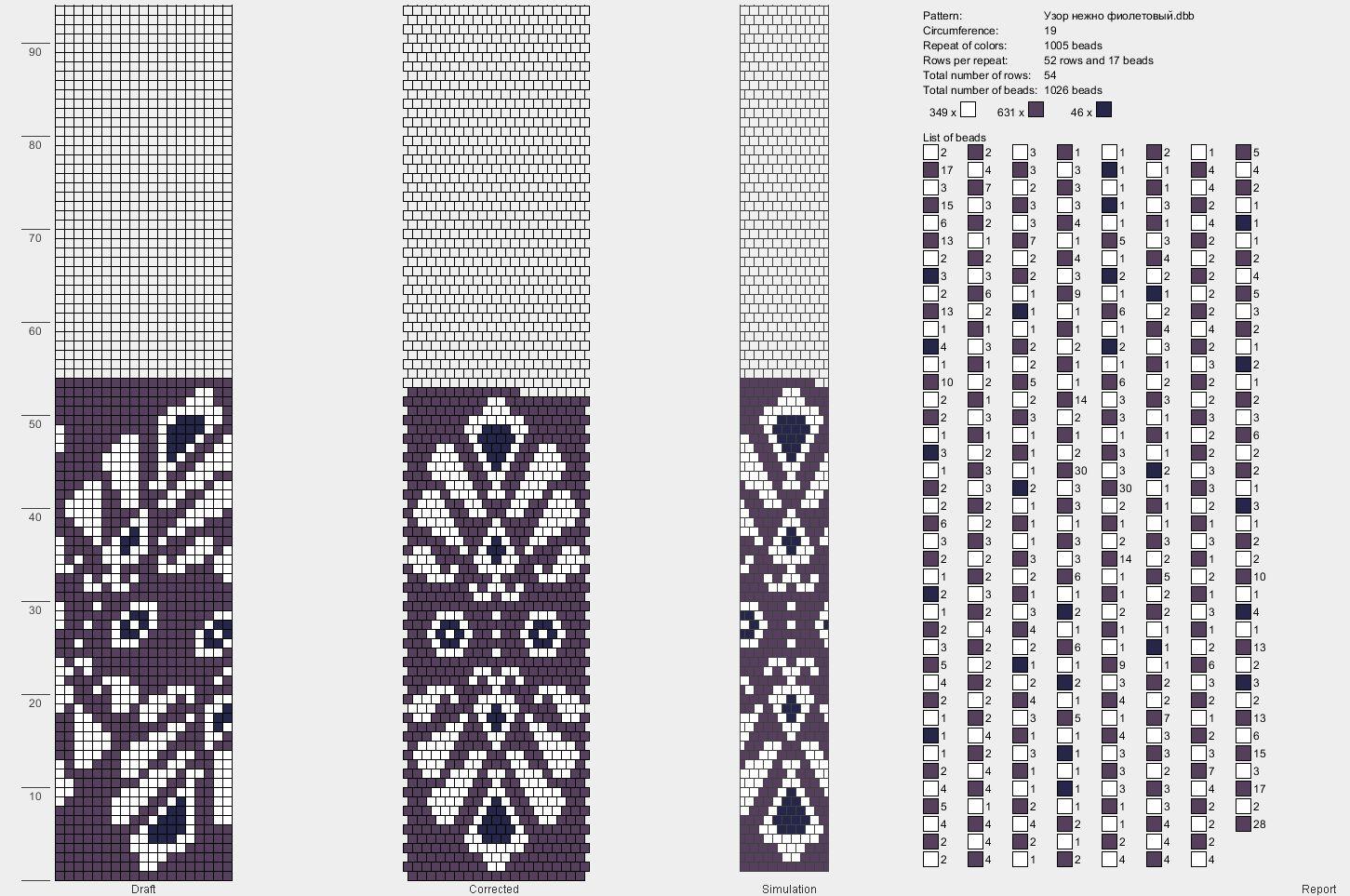 Схемы для вязания жгутов из бисера крючком на 6 бисерин 853