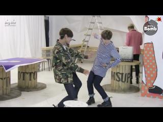 [BANGTAN BOMB] Free dance time with JIMIN & V