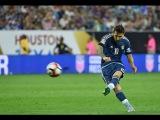 Leo Messi Amazing Free Kick Goal Copa America - Argentina vs USA Houston 2016