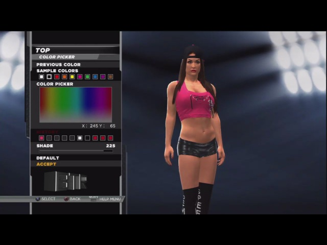 WWE 2K15 Superstar Threads Nikki Bella Pink Black 2014 Attire