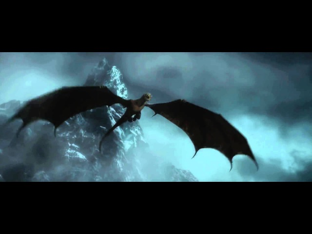 """SMAUG - """"I am fire, I am.. DEATH!"""" (The Hobbit: The Desoletion of Smaug ending scene) HD"""