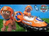 Щенячий патруль на русском обзор игрушка Зума с моторной лодкой Paw Patrol Zuma Hovercraft
