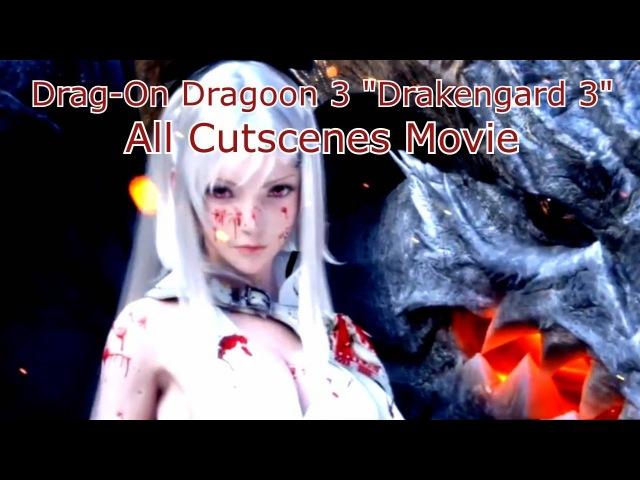 Drag-On Dragoon 3 (Drakengard 3) - All Cutscenes Movie {All Endings Included, Full 1080p HD}