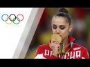 Маргарита Мамун выигрывает соревнования в художественной гимнастике на Олимпийских играх.