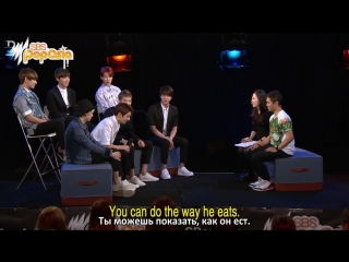 [RUS SUB] BTS impersonate each other @ SBS PopAsia TV
