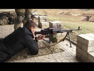 Пулемет Калашникова. Дистанция до цели - 100 метров