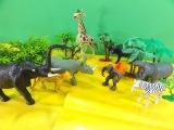 TOY ANIMALS bufalo elefante leao leopardo girafa gorila hipopotamo rinoceronte zebra