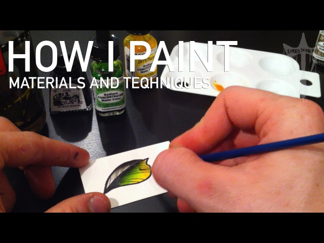 Tattoo Flash Painting Watercolour Illustration : How I Paint Tutorial