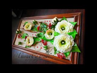 МК картина из готовых цветов_ МК Алина Селега