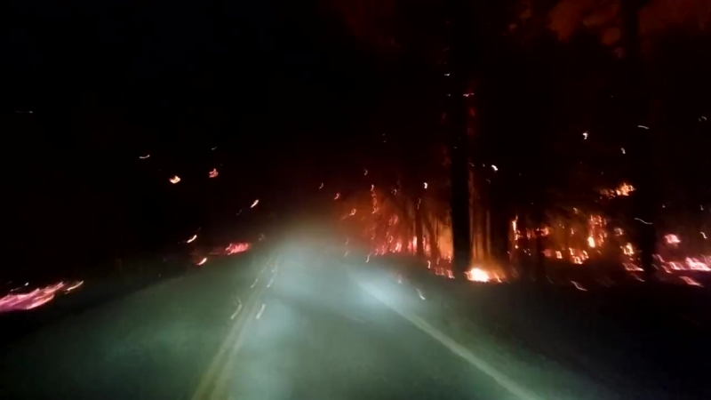Heading toward Middletown on through Valley Fire