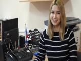 Айнура - презентатор туркменского языка