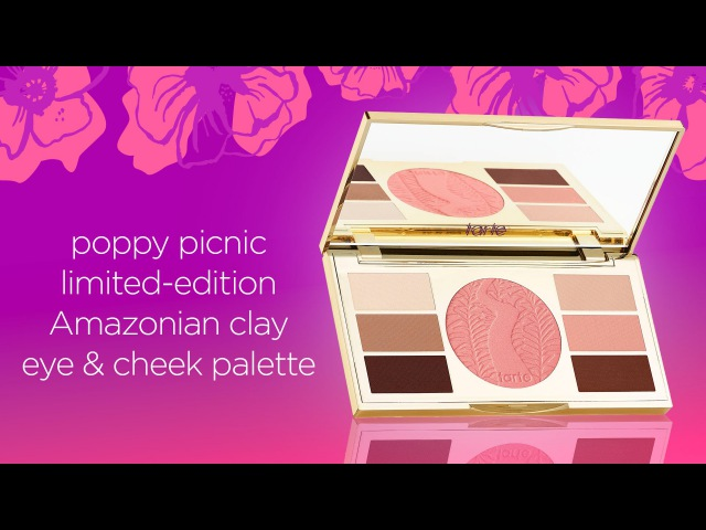 Swatch: poppy picnic limited-edition Amazonian clay eye cheek palette