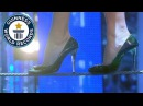 Farthest tightrope walk in high heels Guinness World Records Italian Show Ep 6