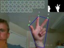 Hand and finger Tracking using OpenCV Computer Vision