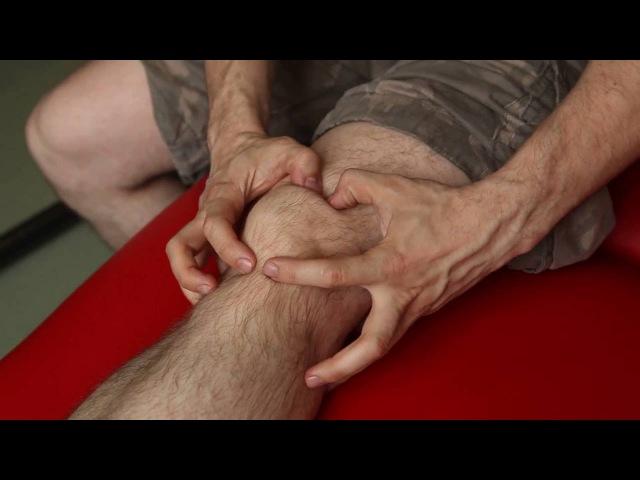 Массаж коленного сустава Тейпирование коленного сустава