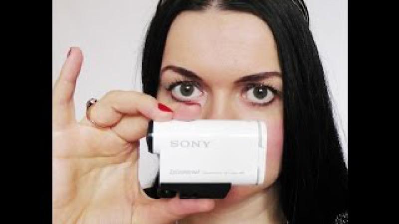 ТУПЛЮ Не могу разобарться в Sony action cam 200 хрень чудоковатая в руках блондинки
