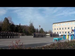 Прохождение торжественным маршем, призыва 2-14 в\ч 78460 г.Алматы