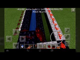 как сделать TNT пушку в майнкрафт пи 0.14.0