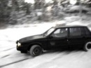 Volvo 740 snow drift
