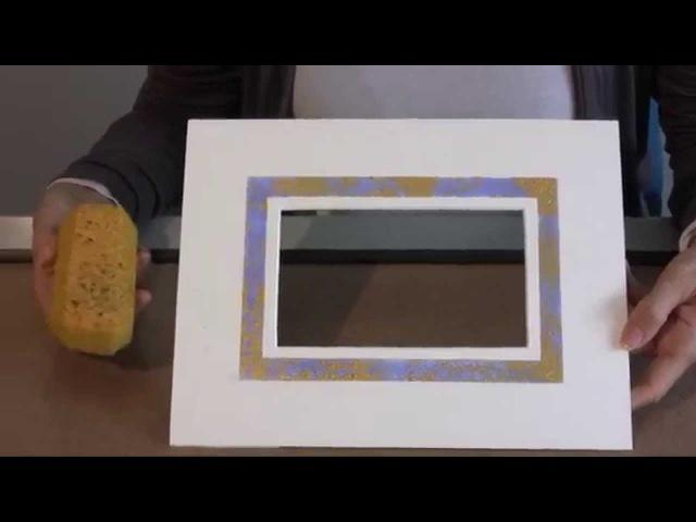 Декорирование паспарту пигментами