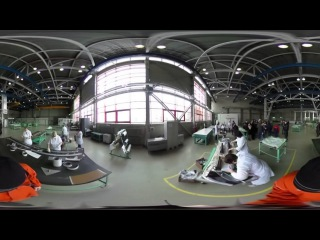 Видео 360: прогулка по авиационному заводу МИГ