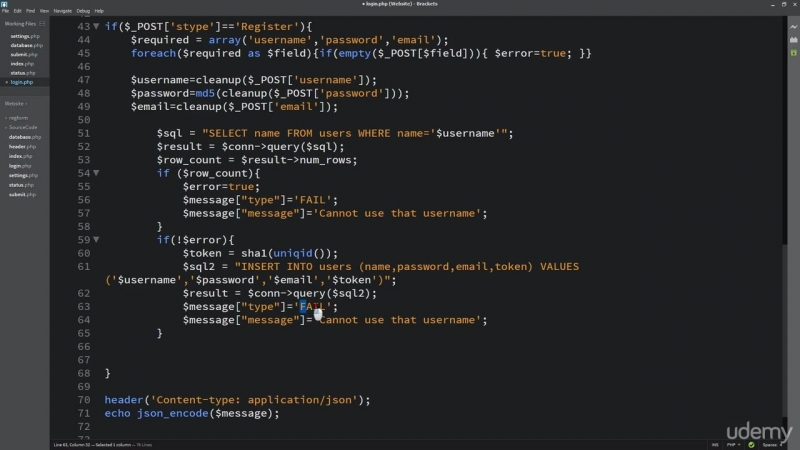 25_-_PHP_Form_register_and_generate_token