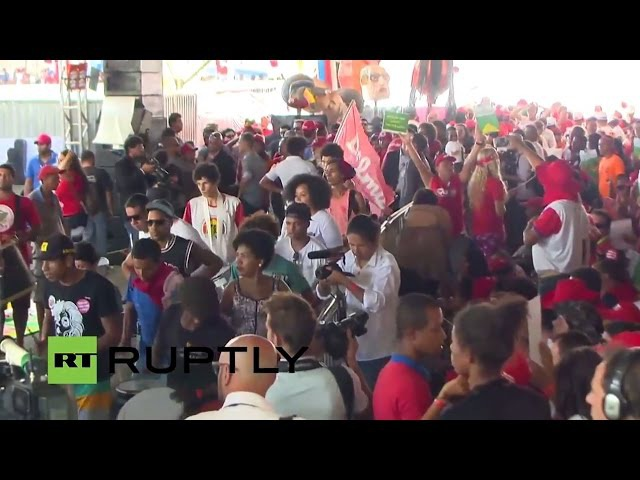 LIVE: Dilma Roussef's PT supporters gather ahead of impeachment vote