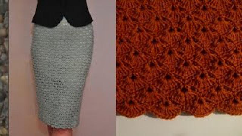 Оригинальная юбка крючком Эльза