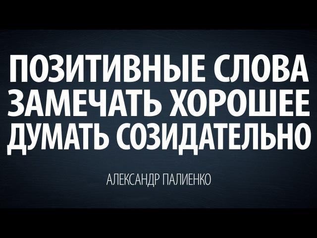Позитивные слова замечать хорошее думать созидательно Александр Палиенко