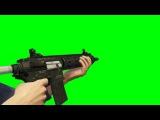 Green screen arma    rifle de assalto  fundo verde 2016
