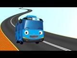 Строим дорогу для автобуса Тайо. Работа строительных машин – экскаватор, бульдозер, грузовик