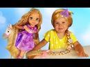 ✿ ПРИНЦЕССЫ РАПУНЦЕЛЬ Кукла с Лошадкой и Парик для Дианы Disney Princess Rapunzel doll