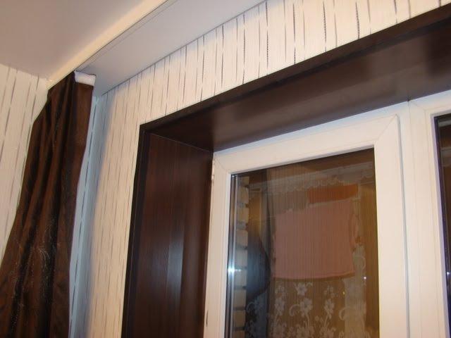 Откосы окна отделанные ламинатом (версия №1)