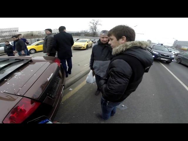 Адам Яндиев ДТП Lamborghini Murcielago Варшавское Шоссе | Lamborghini Crash Accident